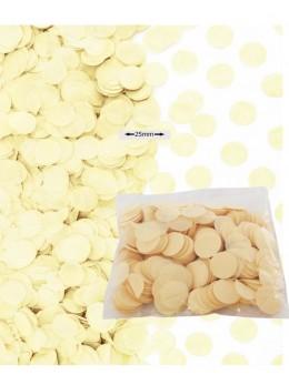 Sachet 50g confetti ivoire 2.5cm