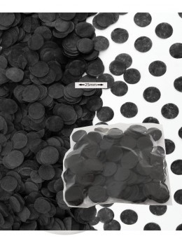 Sachet 50g confetti noir 2.5cm