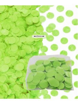 Sachet 50g confetti vert 2.5cm