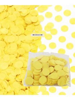 Sachet 50g confetti jaune 2.5cm