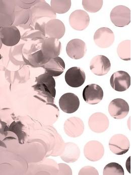 Sachet 50g confetti 2.5cm rose gold