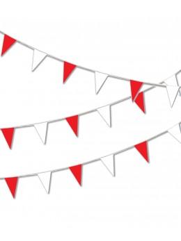 Guirlande pavillon luxe 10m rouge et blanc