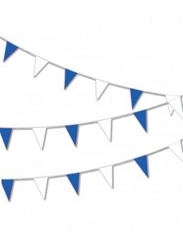 Guirlande pavillon luxe 10m bleu et blanc