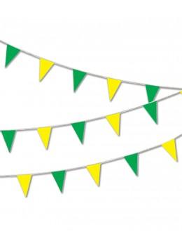 Guirlande pavillon luxe 10m vert et jaune