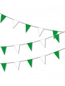 Guirlande pavillon luxe 10m vert et blanc