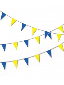 Guirlande pavillon luxe 10m bleu et jaune
