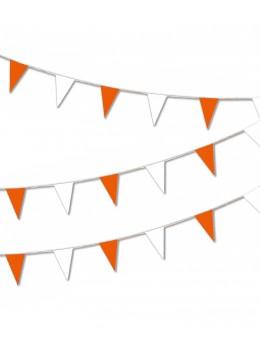 Guirlande pavillon luxe 10m orange et blanc