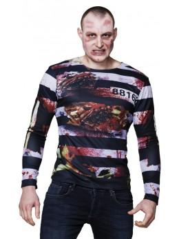 Déguisement tshirt prisonnier zombie