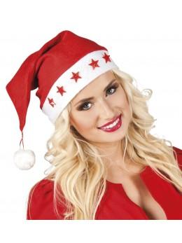 Bonnet Père Noël étoiles lumineux