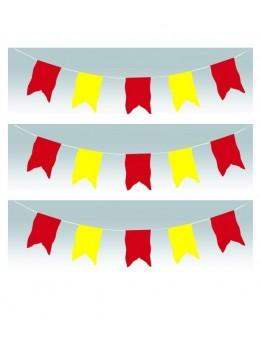 Guirlande oriflamme rouge et jaune 10m