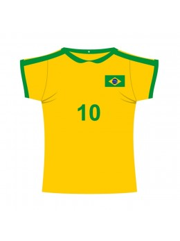 Décor carton maillot de Foot Brésil