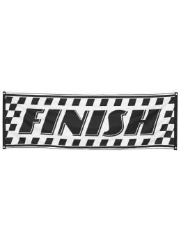 Bannière tissu Racing damier 74x220cm