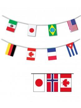 Guirlande 15 Pays du Monde 4m