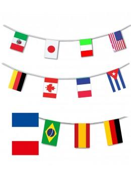 Guirlande plastique 24 pays du monde