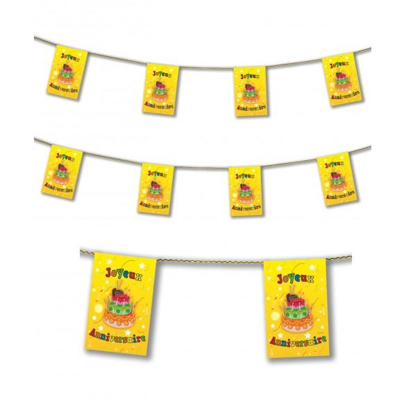 Guirlande Joyeux anniversaire jaune