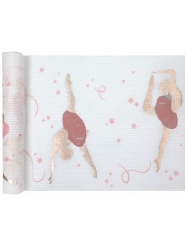 Chemin de table ballerine rose