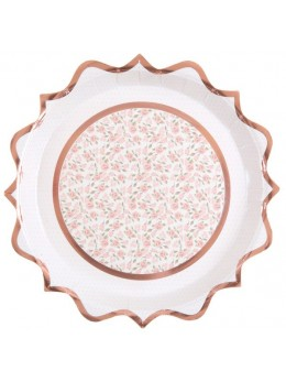 10 Assiettes ballerine rose