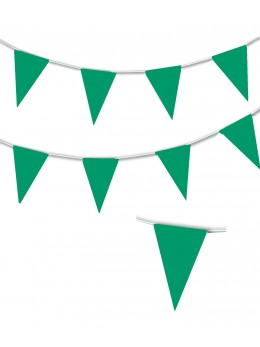 Guirlande triangle vert 10m