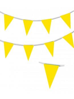Guirlande triangle jaune 10m