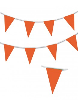 Guirlande triangle orange 10m