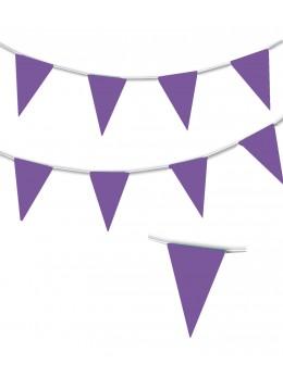 Guirlande triangle violet 10m