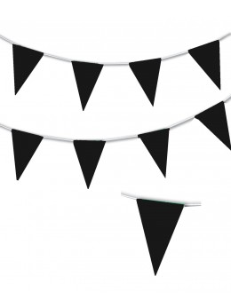Guirlande triangle noir 10m