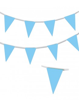 Guirlande triangle bleu ciel 10m