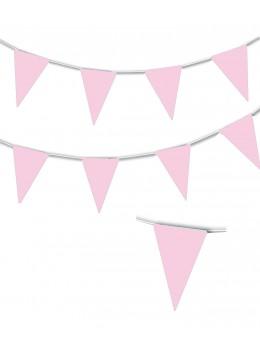 Guirlande triangle rose pâle 10m