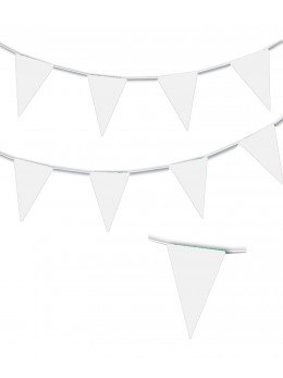 Guirlande triangle blanc 10m