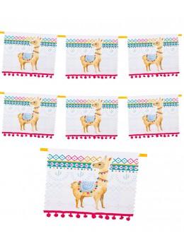 Guirlande papier Lama 4m
