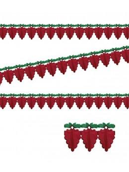 Guirlande raisin bordeaux papier luxe