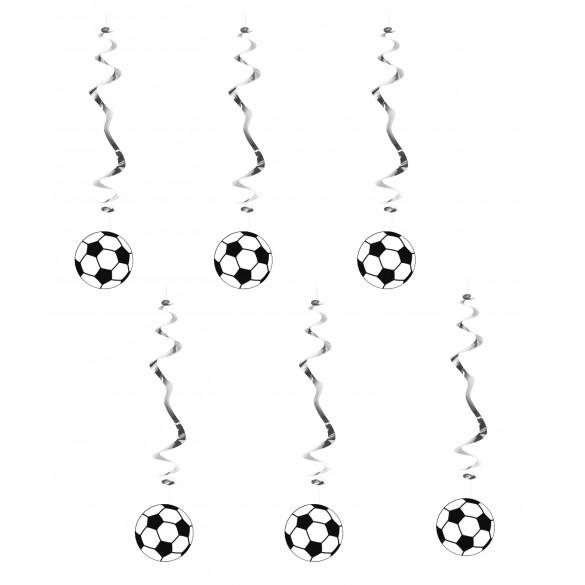 6 Suspensions ballons de foot