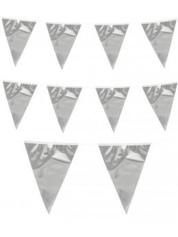 Guirlande fanions argent 10m