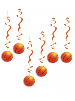 6 Suspensions ballons de basket