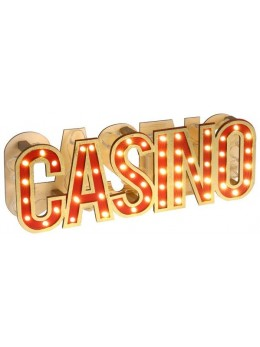 Décor lettres Casino lumineuses