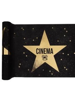 Chemin de table Hollywood étoile or