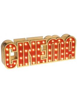 Décor lettres cinéma lumineuses
