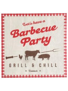 20 serviettes BBQ Party