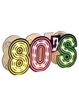 Décor lettres 80's lumineuses