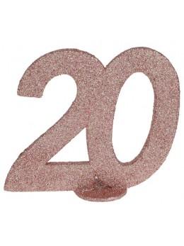 Chiffre anniversaire 20 ans rose gold