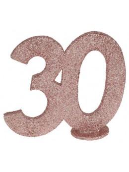 Chiffre anniversaire 30 ans rose gold