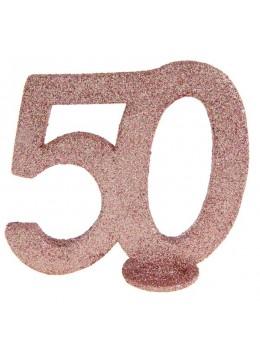 Chiffre anniversaire 50 ans rose gold