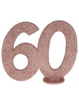 Chiffre anniversaire 60 ans rose gold
