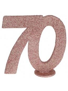 Chiffre anniversaire 70 ans rose gold