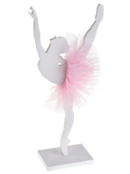 Centre de table ballerine rose 20cm