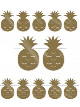 Guirlande ananas dorés