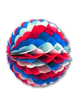 Boule papier tricolore 25cm