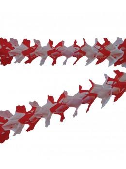 Guirlande papier rouge et blanc