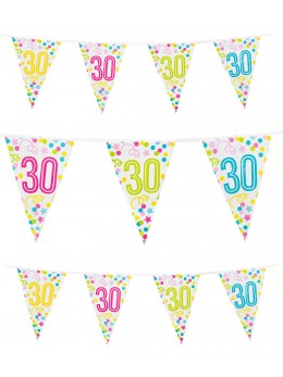 Guirlande 30 ans confetti étoiles