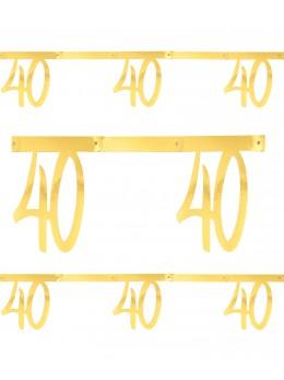 Banderole âge 40 ans métal or